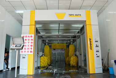 Cina Professional Development Express Car Wash Equipment , High End Standard Tunnel Washing Machine pemasok