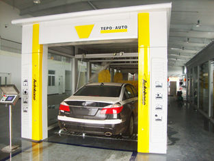 Cina Yellow Tunnel Car Washing Equipment Effectively , High Pressure Spray Systems pemasok