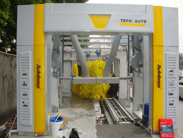 Cina Brushless Tunnel Car Wash System Automatic With High Air Drying pemasok